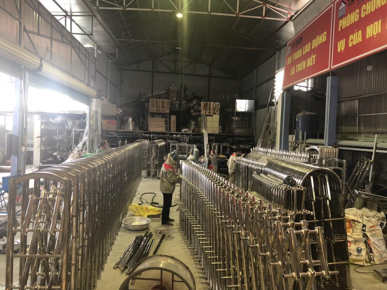 Công trình cổng xếp inox của cụm công nghiệp Binh Lục