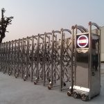 cổng xếp inox – Công trình tại KCN Đồng Văn