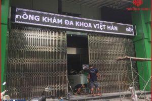 [Hình ảnh lắp đặt] Cửa xếp inox 304 tại phòng khám đa khoa Việt Hàn