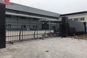 [Hình ảnh lắp đặt] Cổng trượt tự động cánh cứng tại KCN Thuận Thành 2