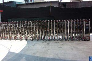 [Hình ảnh lắp đặt] Cổng xếp hợp kim nhôm Heko 01 tại Bắc Ninh